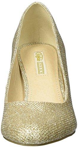 Buffalo Damen C404a-1 P1855d Glitter Pumps Oro (oro 01)