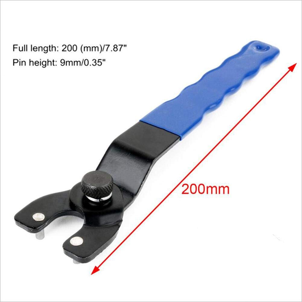 likeitwell Adjustable Pin Spanner Wrench for Angle Grinder Trimming Cutting Machine Grinder Lock-Nut Wrench Blue Black astonishing gifts