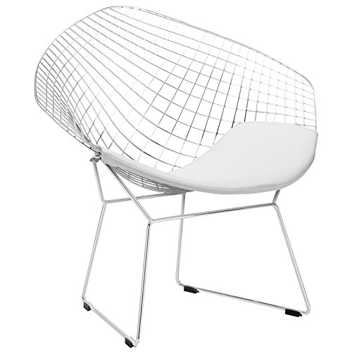 (Poly and Bark Morph Lounge Chair in White)