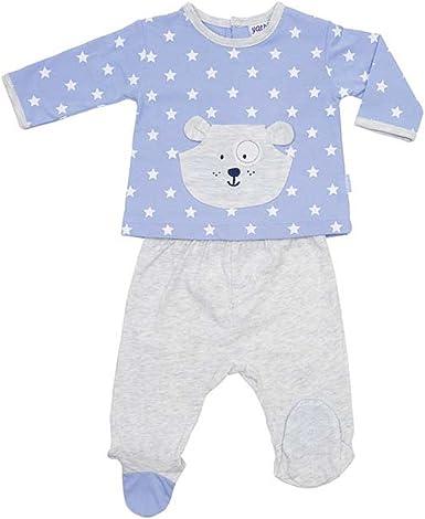 YATSI - Conjunto Polaina ALGODÓN bebé-niños Color: Azul Talla: 6M ...