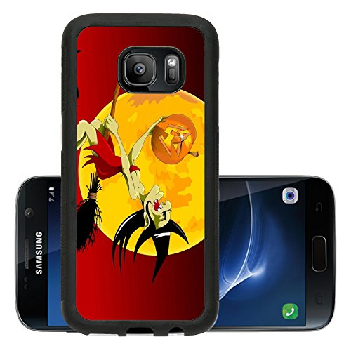 T Mobile Girl Halloween Costume (Liili Premium Samsung Galaxy S7 Aluminum Backplate Bumper Snap Case ID: 21741799 vector illustration of halloween witch flying on broom)