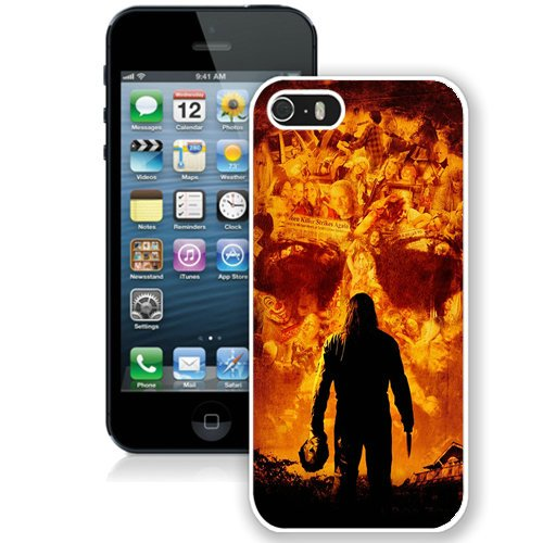 Coque,Fashion Coque iphone 5S Halloween Movie blanc Screen Cover Case Cover Fashion and Hot Sale Design