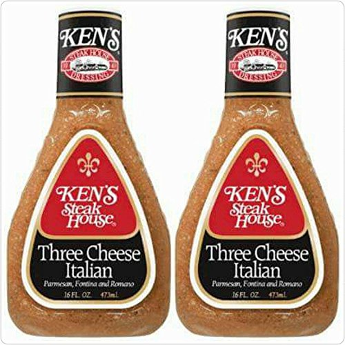 Ken's Steak House Three Cheese Italian 16 Fl Oz (Pack of 2) Cheese Salad