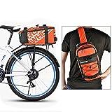 Roswheel 5L Bike Bag 2 in 1 Multifunctional Waterproof Cycling Bicycle Rear Seat Trunk Bag Carrying Luggage Package Rack Panniers Outdoor – Also used as Shoulder Bag