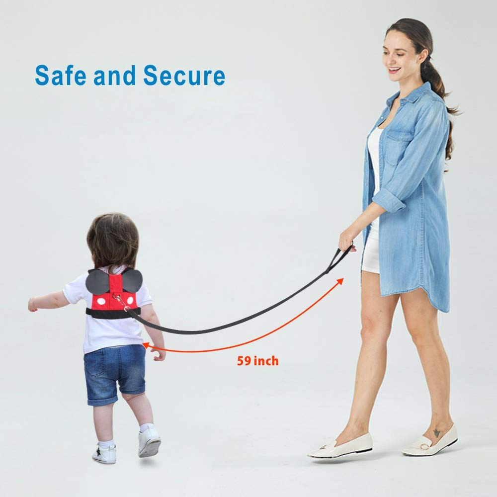 Idefair Kids Harness Kids Walking Leash Safety,Baby Anti Lost Safety Harness,Toddler Harness Safety Leashes for 1-5 Years Old Boys and Girls - Red by Idefair (Image #8)