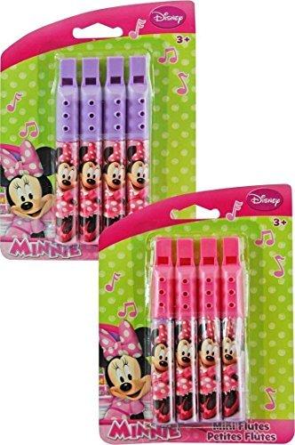 UPD 27821MIN Disney Minnie Mouse Mini Flutes (2 Pack), 3.25