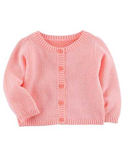 Carter's Baby Girls' Button up Sweater (Sweet Simple Pink, 3M) -