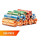 Coin Roll Wrappers 500-Count Assorted Coin Papers Bundle of 125 Each Quarters Nickels Dimes Pennies