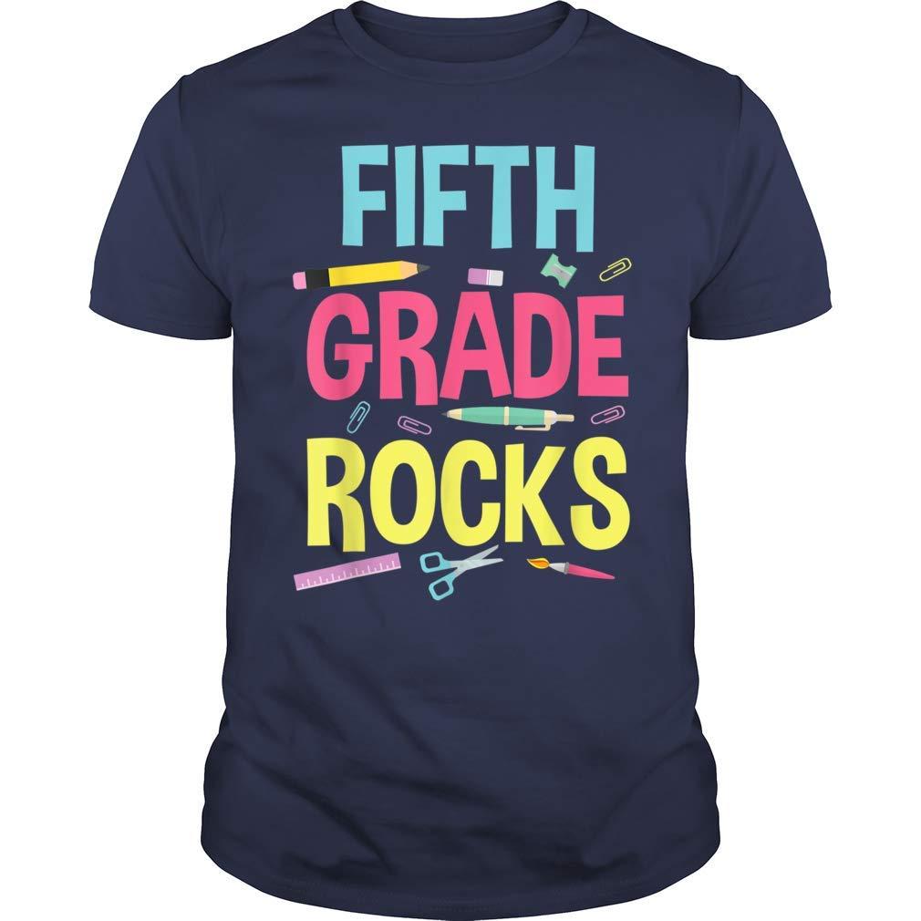 Fifth 5th Grade Rocks Tea Back To School Shirt Tshirt