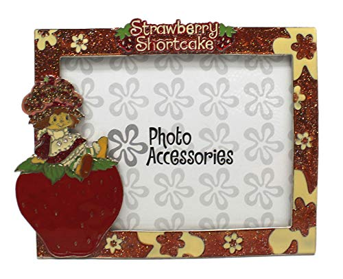 (Strawberry Shortcake Sparkly Enamel Floral Picture Frame (4x6in))