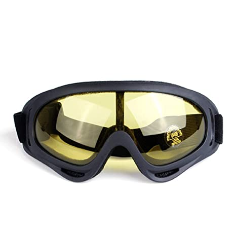SNEAK STROLL Unisex UV400 Tactical Goggles Windproof Dustproof Outdoor Sports Ski Hunting Glasses CS Army Tactical
