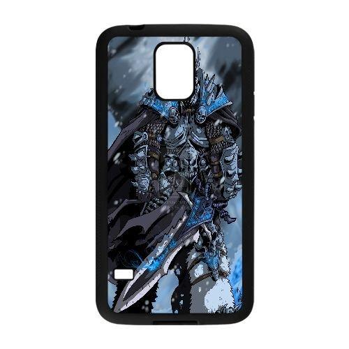 samsung_galaxy_s5 phone case Black The Lich King World of Warcraft WOW SSJ9950377