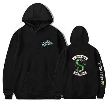 faf708f69c9 XIAOMEI Unisex Riverdale Southside Serpents Winter Autumn Casual Hoodies  Sweatshirts Pullover Black