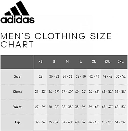 adidas jacket size chart