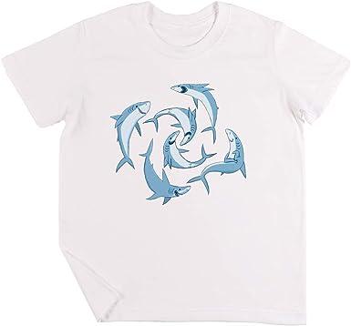 Colegio De Feliz Tiburones Niños Chicos Chicas Unisexo Camiseta ...