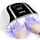120W UV LED Nail Lamp, Faster Nail Dryer for Gel Polish with 4 Timer Setting, Professional Gel Nail UV Light for Two Hand Cur