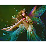DIY Diamond 5D Embroidery Paintings,Oucan 5D Embroidery Painting Kit 5D Decorating Wall Stickers 5D DIY Diamond Painting Set for Living Room (30x25cm)