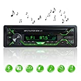 Aigoss Car Stereo with Bluetooth, Single Din Radio FM Media Player USB/TF/SD/AUX Audio Receiver, Hands Free Calling with Wireless Control and Multi Color Illumination