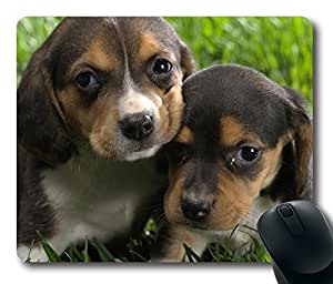 Beagle Puppies Gaming Mouse Pad Personalized Hot Oblong Shaped Mouse Mat Design Natural Eco Rubber Durable Computer Desk Stationery Accessories Mouse Pads For Gift - Support Wired Wireless or Bluetooth Mouse