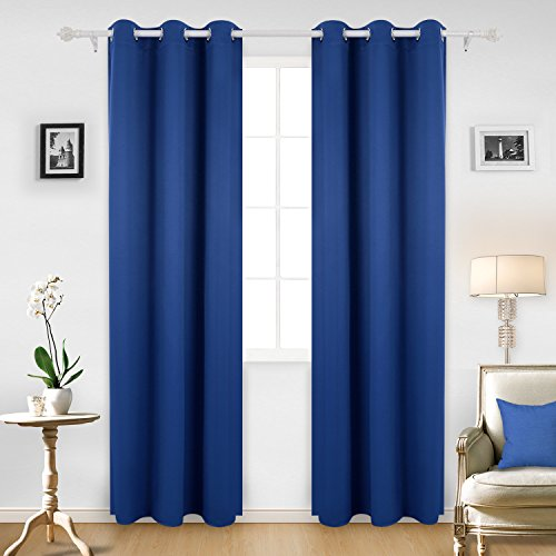Charmant Deconovo Room Darkening Thermal Insulated Blackout Grommet Window Curtain  Panel For Infant Room, Royal Blue,42x95 Inch,1 Panel