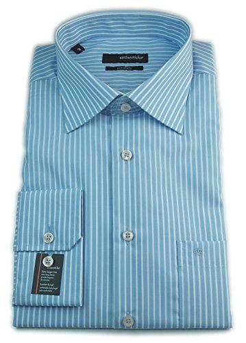 Seidensticker Herren Hemd Splendesto Regular Fit Extra langer Arm blau / weiß gestreift 181605.15