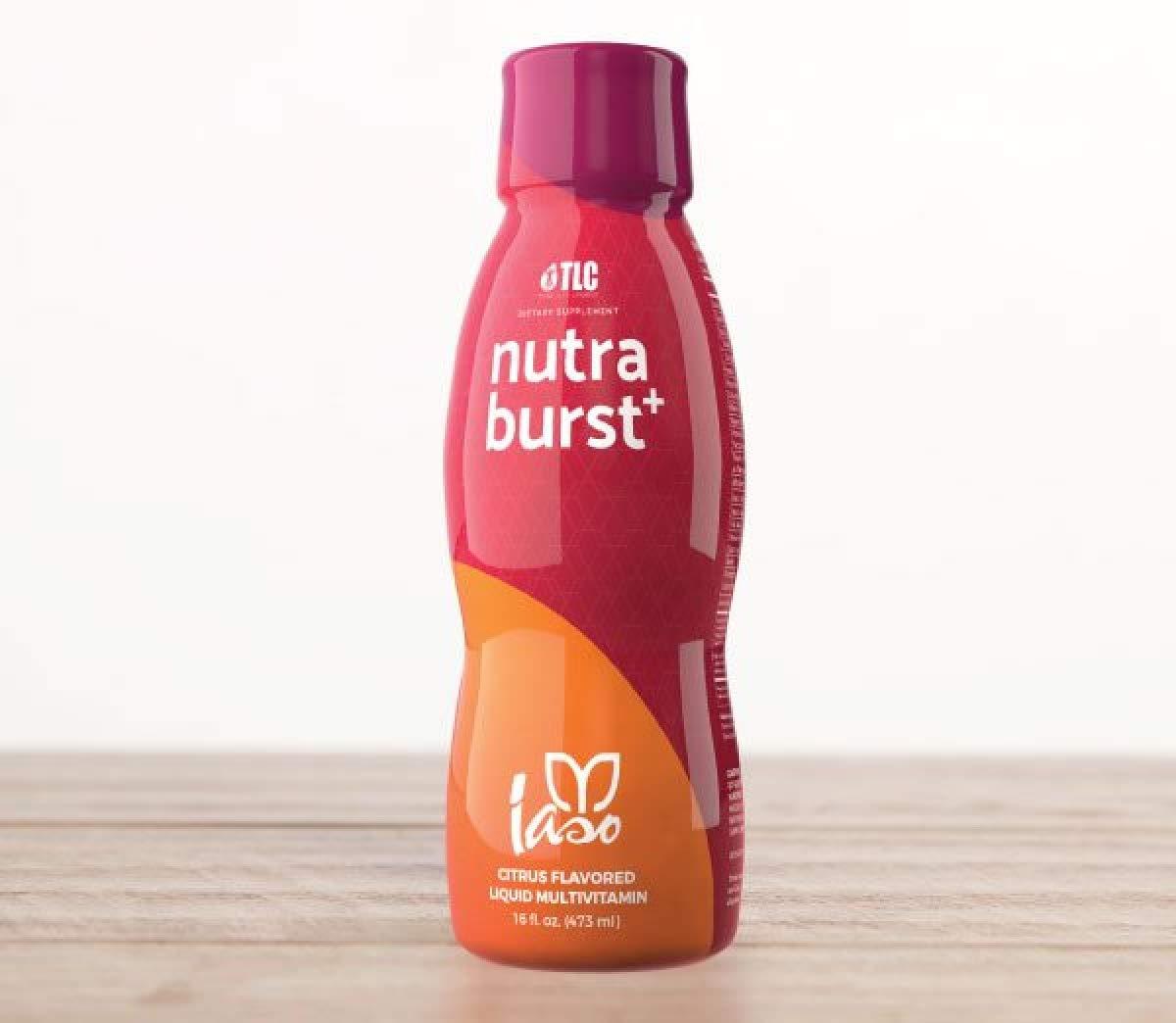 TLC IASO Nutra Burst+ Multivitamin Liquid Citrus Flavored 32 Servings 16 Fl Oz   470ml