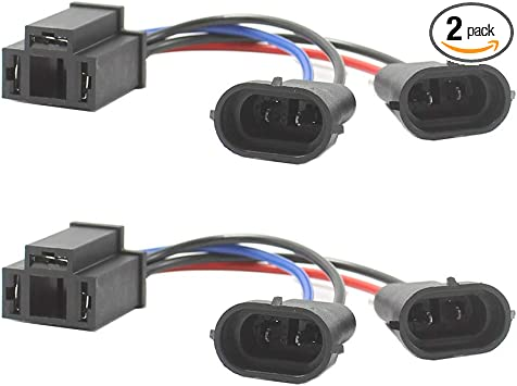TRUCKMALL H4 to H9//H11 Wire Harness Adapter for Dual Beam Headlights H4 Splitter Harness for Harley Davidson Motorcycle 2014 to 2019 Street Glide Special 2015 to 2019 Road King Special