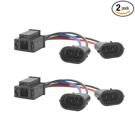 Swell Amazon Com Holdcy H4 To H9 H11 Wire Harness Adapter Hi Lo Dual Wiring Digital Resources Ommitdefiancerspsorg
