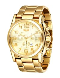 Vestal Men's DEV005 De Novo Gold Chronograph with Day Register Watch