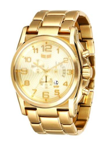 (Vestal Men's DEV005 De Novo Gold Chronograph with Day Register Watch)