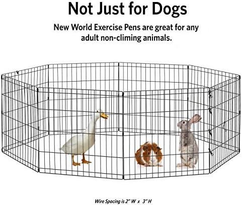 "New World Pet Products B550-24, corralito para mascotas, negro, pequeño / 24 ""x 24"" 7"