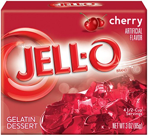 Jell-O Gelatin Dessert, Cherry, 3-Ounce Boxes (Pack of 6)