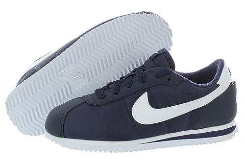 size 40 feb02 74d66 Nike Kids' Cortez 07 Nylon Walking Shoe White/Navy (3 ...