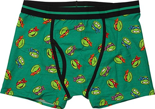 Ninja Turtles Faces All Over Boxer Briefs, XL]()