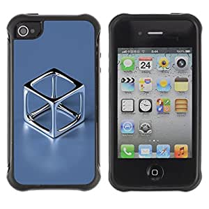 "Hypernova Defender Series TPU protection Cas Case Coque pour Apple iPhone 4 / iPhone 4S [Cromo Cube""]"