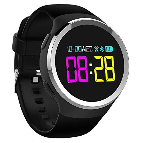 PINCHU Smart Fitness Bracelet Heart Rate Cardiaco Band Tonometer Electronics Wearable Devices Bracelets For Men,Black