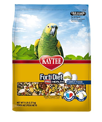 510p%2B3 dtwL - Kaytee Forti Diet Egg-Cite Bird Food for Parrots, 5-Pound Bag