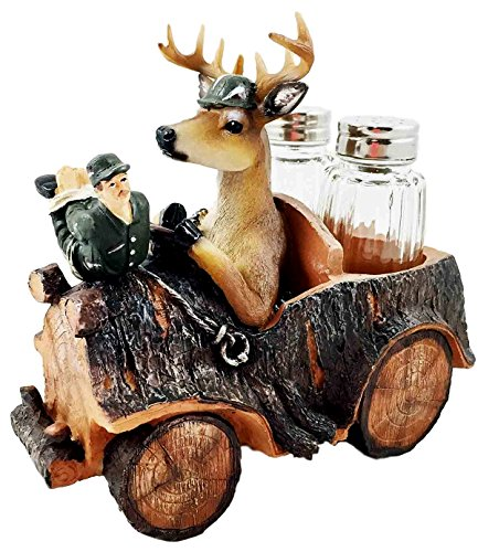 Hunter Lodge Season for Deer Hunting Figurine Salt Pepper...