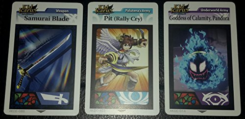 Kid Icarus Uprising AR Idol Card Promotional Pack -- includes Pit (Rally Cry)!