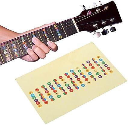eranello (TM) guitarra accesorios Escala Adhesivo cuello diapasón ...