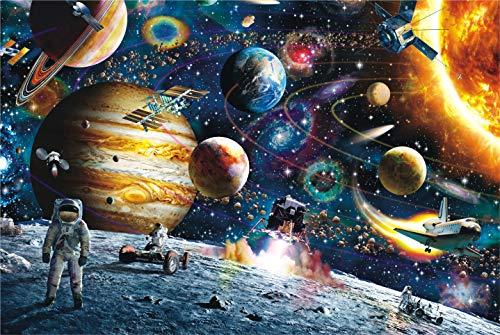 - CHengQiSM Space Puzzles 1000 Pieces Jigsaw Puzzles, Space Men Puzzle Jigsaw Puzzle for Adults Kids - Planets in Outer Space Jigsaw Puzzle (27.56 x 19.69 Inches)