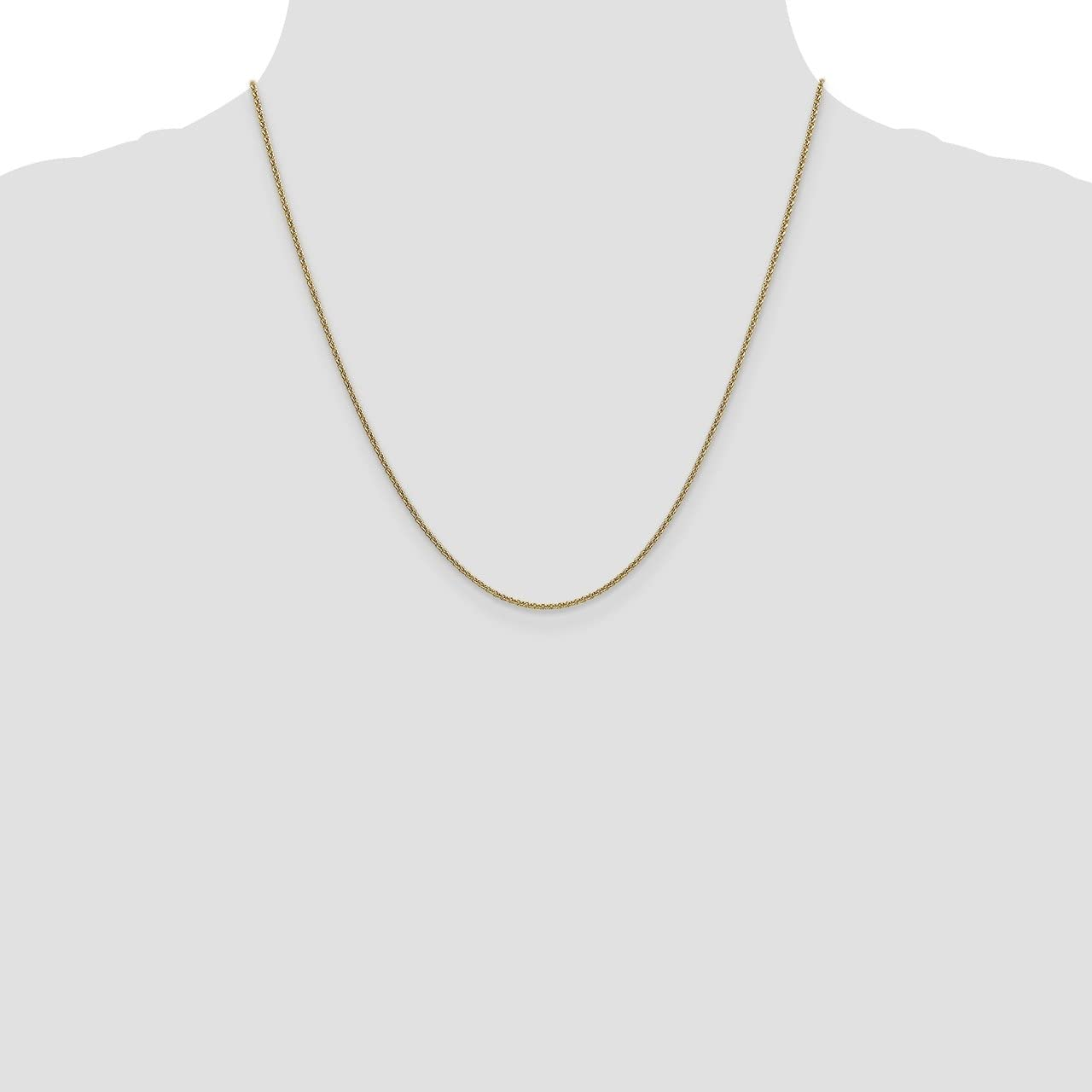 Lex /& Lu Leslies 14k Yellow Gold Round Anchor Chain Necklace