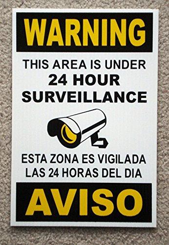 Burglar Bill Costume Ideas (1 Pc Extreme Popular Security Signs Anti-Burglar Video Warning CCTV Protection Size 8