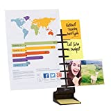NoteTower Desktop Pro Black - Sticky Note Organizer & Dispenser + Document Holder - Holds and Displays Copy Paper, Documents, Photos, Sticky Notes and Business Cards - Bonus 50 Sheets 3x3 Sticky Notes