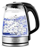 BREVO Double Wall Cordless Electric Glass Kettle with...