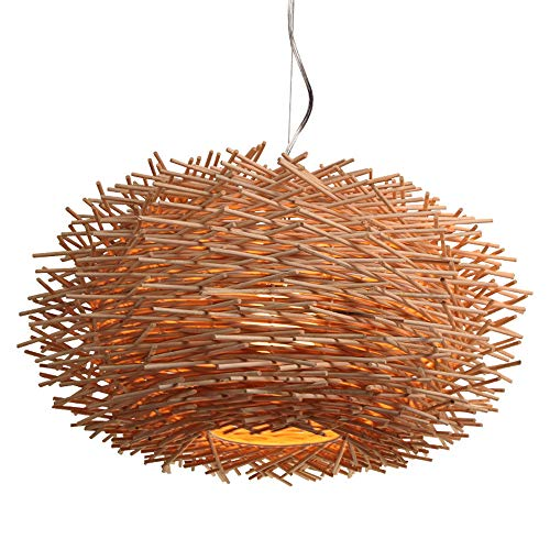 SMGHF Rattan Chandelier Southeast Asian Style Pastoral Restaurant Bedroom Personality Art Chandelier Creative Bird's nest Chandelier, E27