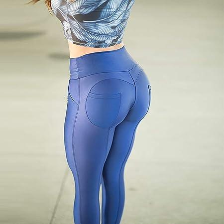 P&KK Leggings de Cintura Alta para Mujer Pantalones de Yoga ...
