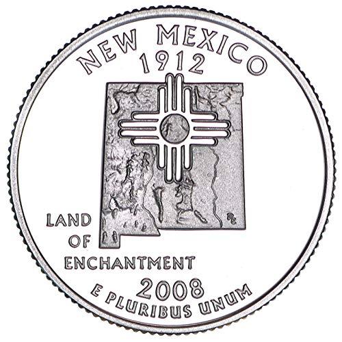 (2008 S State Quarter New Mexico 90% Silver Gem Deep Cameo Proof)