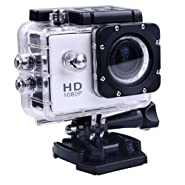 Findway [New Versoin SJ4000 Sport Digital Waterproof Diving Camera] Bicycle Motorcycle Skiing Swimming Diving Sports Action Camera Full HD DVR DV Min 1080P 30M Waterproof extreme Sport Helmet Action Camera Camcorder