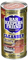 Bar Keepers Friend Cleanser & Polish 12-Ounces (2-Pack). Since 1882, the original formula of this powdered Cleanser & Polish still delivers premium cleaning power for any stain on any non-porous surface. As a bleach-free product, Clea...
